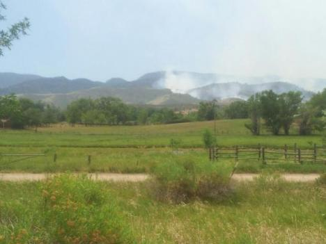 Smoke from the High Park Fire as seen from Bellvue. PHOTO COURTESY INCIWEB.