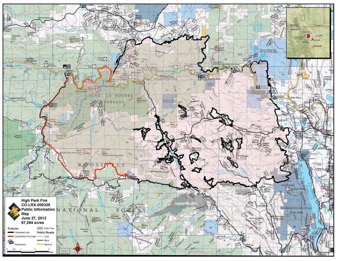 June 27 High Park Fire map.