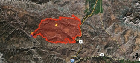 The Pine Ridge Fire ran fast until it encountered I-70 and the Colorado River, guarded by a line of firefighters.