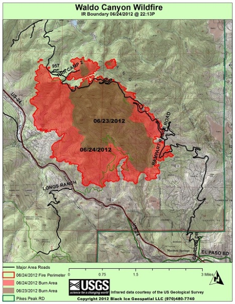 Waldo Canyon Fire map