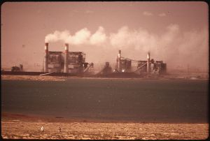 The Four Corners Power Plant in a 1972 photo via Wikipedia.