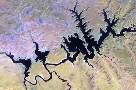 Lake Powell from a NASA satellite in 2000.