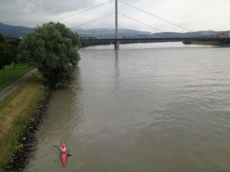 Kayaking the Danube.
