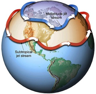 A warming Arctic is changing the configuration of the jet stream, which affects mid-latitude weather. GRAPHIC COURTESY NOAA.