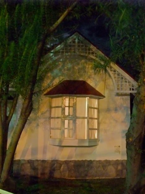 A glowing window in Ushuia, Argentina.