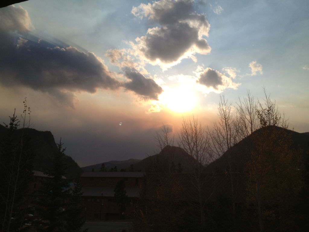 Smoke from a wildfire near Rifle filtered into Summit skies Wednesday afternoon.
