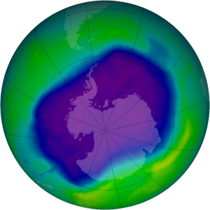 This year's ozone hole over Antarctica was the second-smallest in 20 years, according to NASA.
