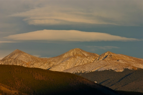 Cloud cap over the Continental Divide.