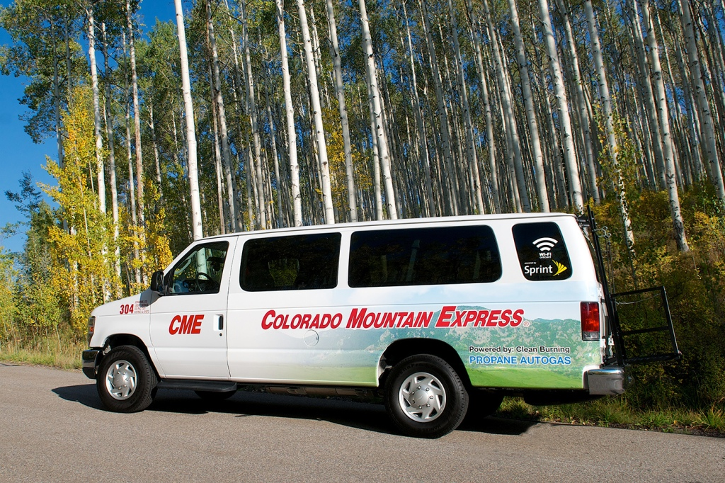 Colorado Mountain Express says happy with tests of propane autogas-fueled vans. Photo courtesy CME.