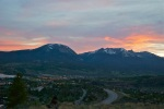 Sunset over Silverthorne from Tenderfoot Mountain.