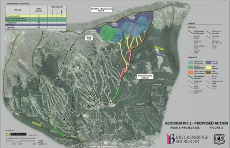 Critics have appealed the Forest Service approval for the Peak 6 expansion at Breckenridge Ski Area.