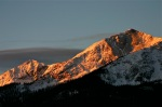 Morning alpenglow on the Tenmile Range.