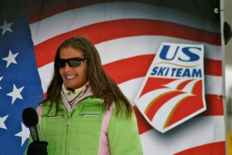 Picabo Street helps open the U.S. Ski Team speed training center at Copper Mountain in Nov. 2011. Photo by Bob Berwyn.