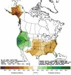 In the six to 10-day precipitation outlook, Western Colorado looks to be on the cusp of a wet zone zone extending inward from the Pacific.