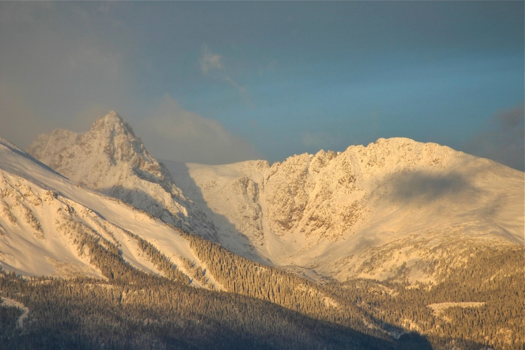 A storm clears over the Gore Range early Sunday morning.