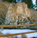 The giant petrified stump of an ancient redwood tree at Florissant National Fossil Beds holds secrets from ancient geological eras.