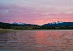 Dillon Reservoir is pretty in pink.