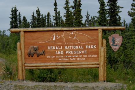Denali National Park Entrance.