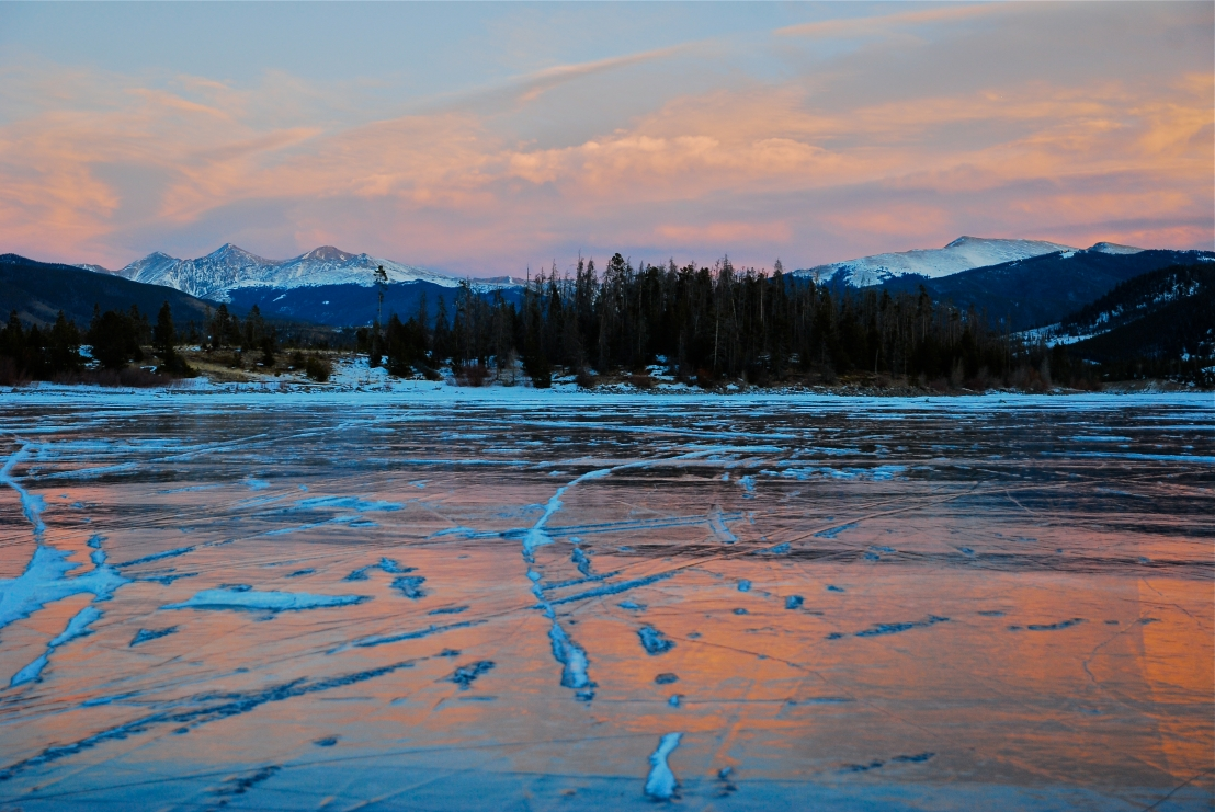 Dillon Reservoir ice, Summit County Colorado