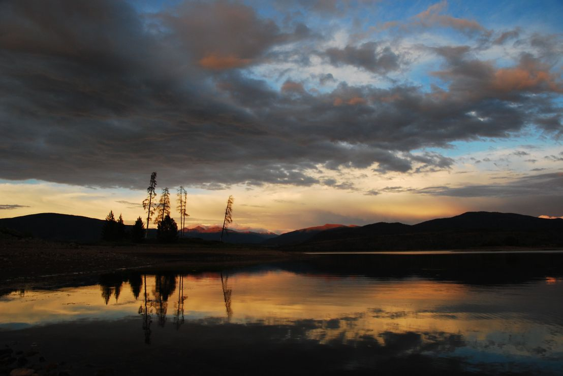 A stunning sunset in Summit County, Colorado.