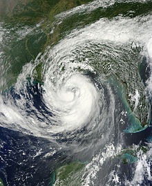 Hurricane Isaac satellite image
