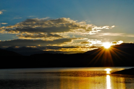 Sunrise over Dillon Reservoir, Summit County, Colorado