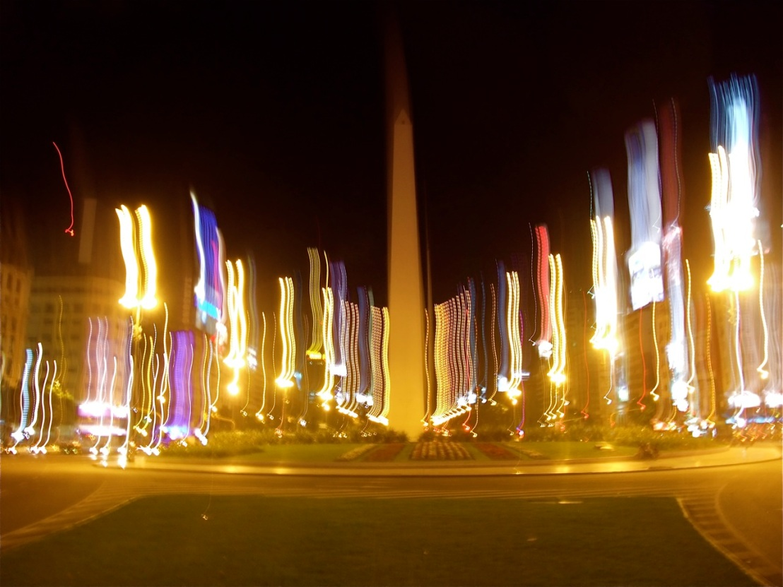 The Obelisk in Buenos Aires.