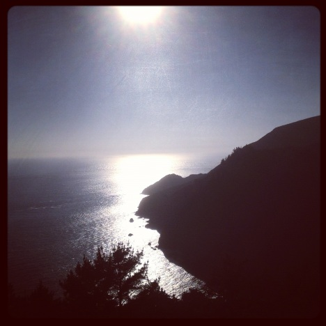 Marin headlands, looking west.