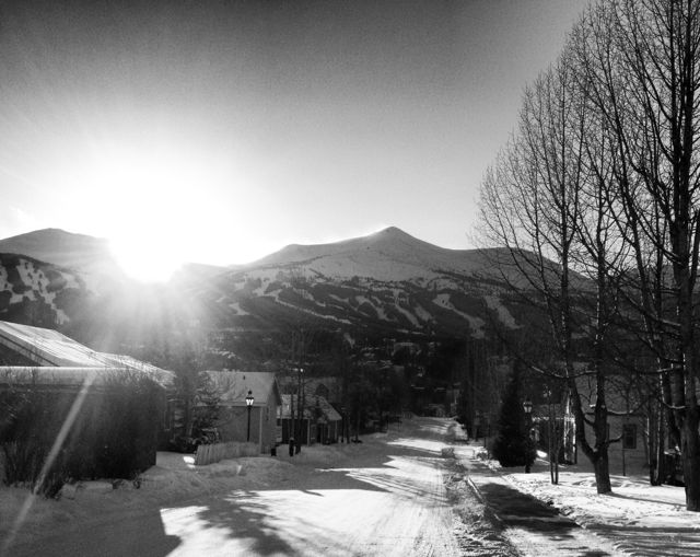 A quiet side street in Breckenridge, Colorado.