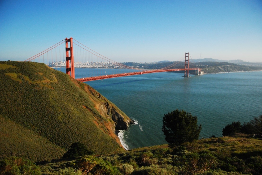 A classic view of an American icon from the Marin Headlands.