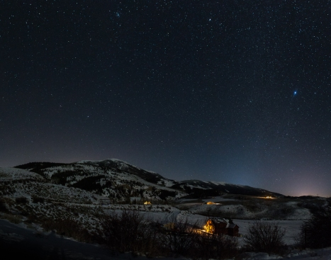 Sirius over Middle Park, Colorado.