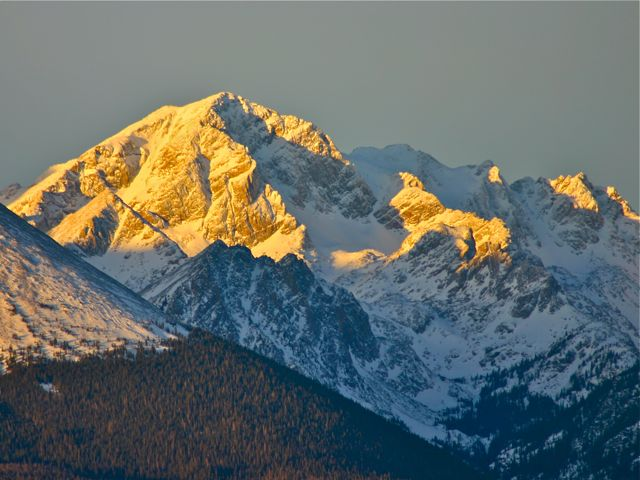 First light on the Gore Range.