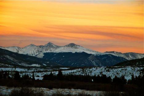 Frisco Colorado sunset