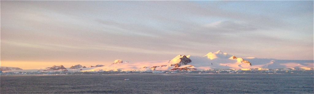 Dawn in the Antarctic Sound.