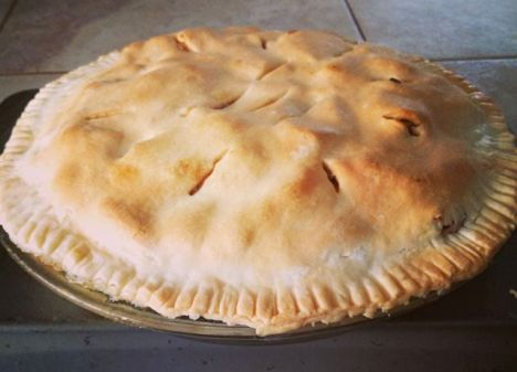 Nothing like a little deep-dish apple pie!