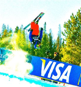 Freestyle skiers are competing in the 2013 FIS World Freestyle Championships in Norway. Bob Berwyn photo.