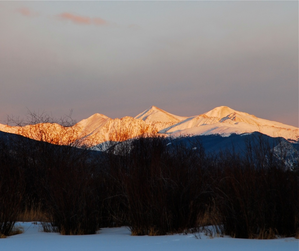 Sunset afterglow on the Continental Divide.