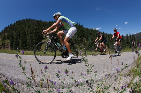 The 2012 Colorado Cyclist Copper Triangle, a cycling tour in Lake, Summit, and Eagle Counties, and based in Copper Mountain, Colorado, on Saturday, Aug. 4, 2012. Photo Steve Peterson