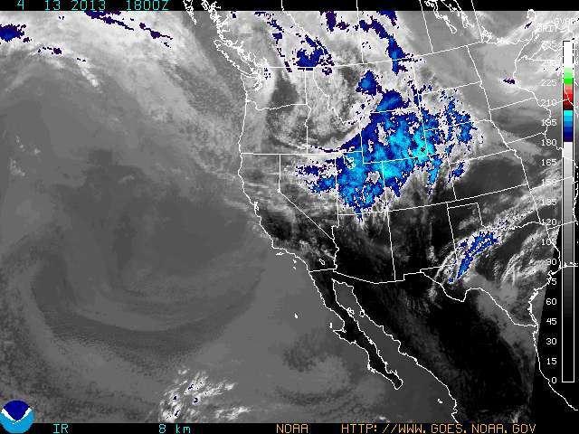 A spring snowstorm noses into Colorado Saturday, April 13.