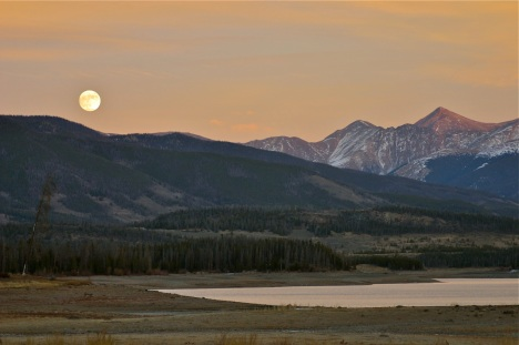 This November 2012 moonrise scene was photographed from a spot that would normally be under a few feet of water.