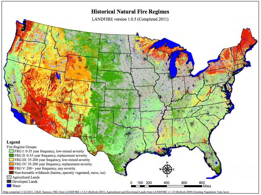 Forest Service Red Zone Report Highlights Sucesses Of Fuel - Us wildfire map