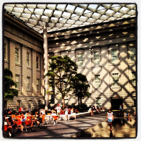 The glass-covered Kogod Courtyard at the National Portrait Gallery in Washington, D.C.