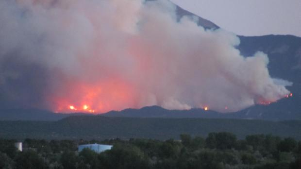 The East Peak Fire burns in late June, 2013 in the Spanish Peaks area. Photo courtesy Inciweb.org/Don Degman.