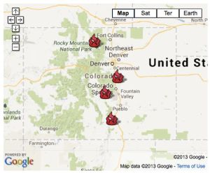 Colorado wildfire map June 2013