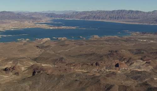 Lake Mead. Photo courtesy USGS/Stephen Wessells.