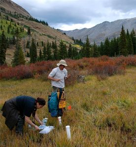 USGS and EPA experts sample soils near the Pennsylvania Mine.
