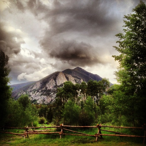 Evening thunderstorms over Peak 1, Frisco, Colorado.