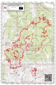 The West Fork/Windy Pass wildfire footprint as of July 4, 2013.