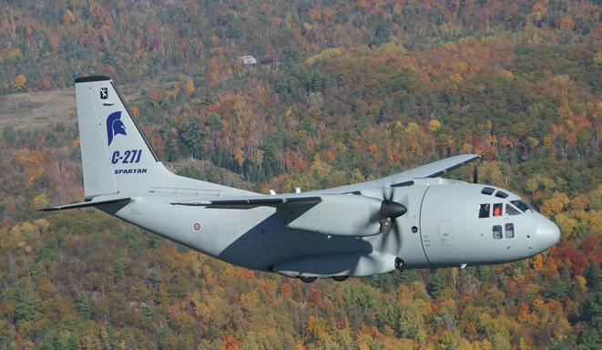 A  C-27J in flight. Photo courtesy U.S. Air Force.