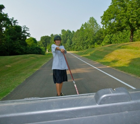 A little longboard tow action in Vicksburg.